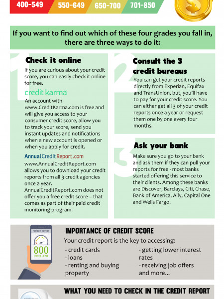 How to Check credit Score and Credit report Infographic