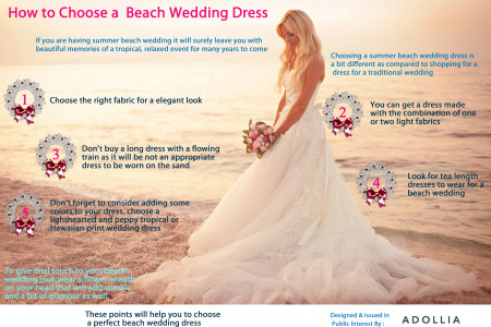 How to Choose a Beach Wedding Dress Infographic