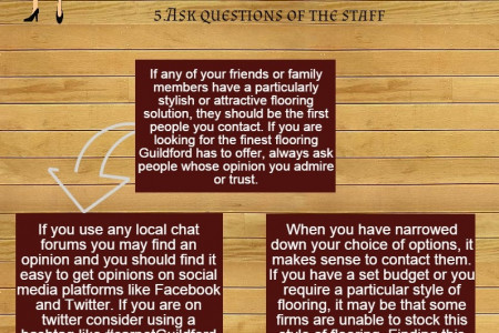 How To Choose A Flooring Company In Guildford Infographic