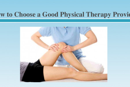 How to Choose a Good Physical Therapy Provider Infographic