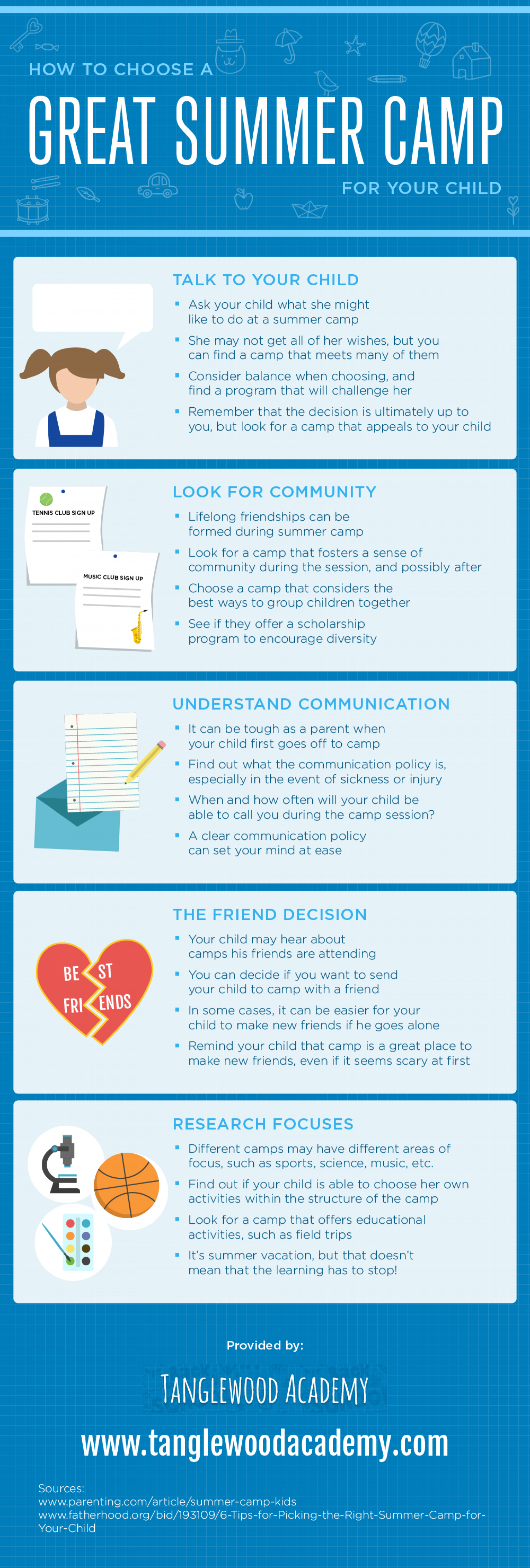How to Choose a Great Summer Camp for Your Child Infographic