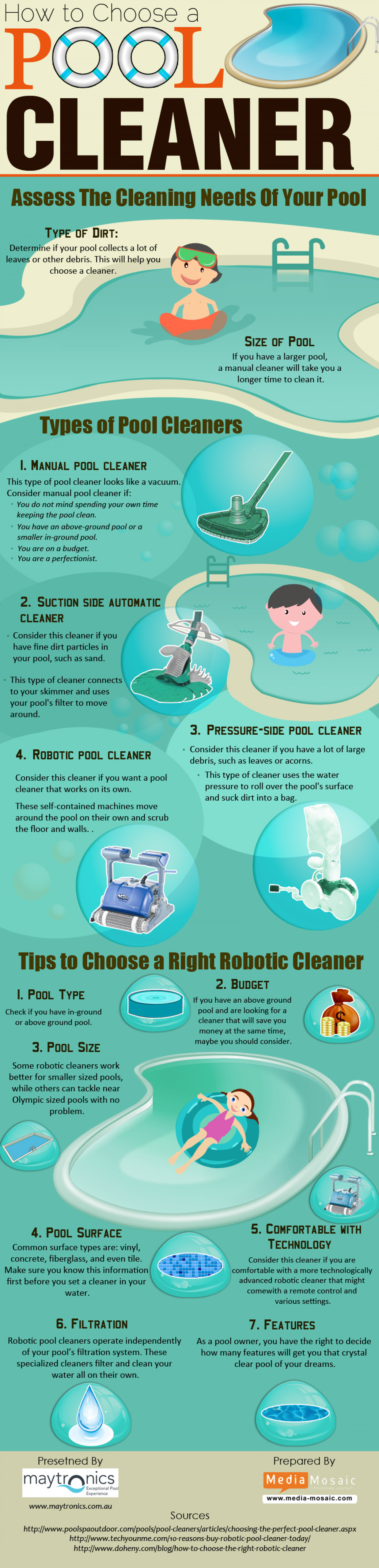 How to choose a pool cleaner [Info Graphic] Infographic