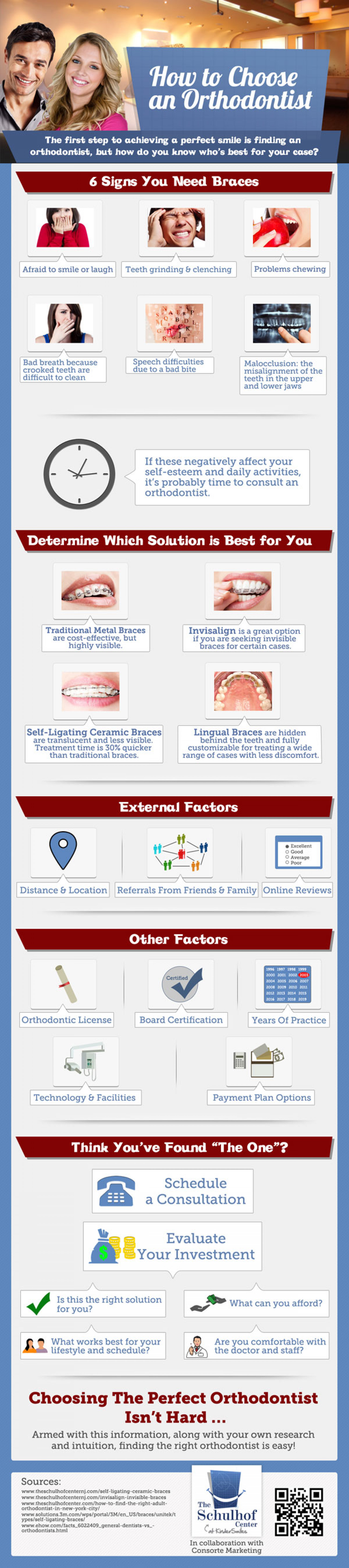 How to Choose an Orthodontist  Infographic