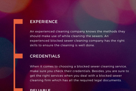 How to Choose Blocked Sewer Cleaning Service Infographic