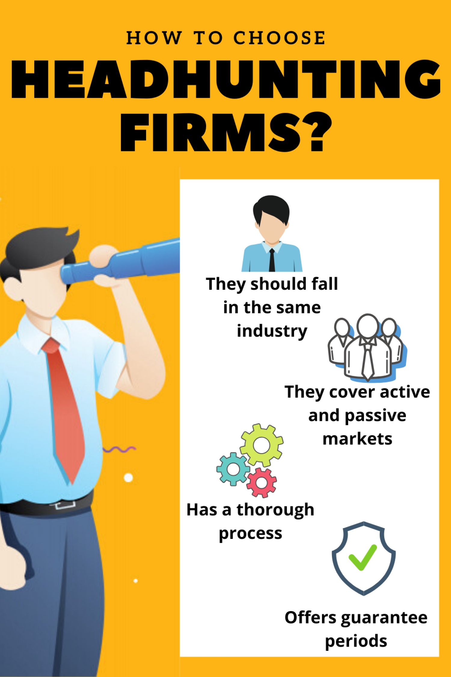 How to Choose Headhunting Firms? Infographic