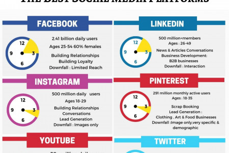 How To Choose Perfect Social Media Platforms For Marketing Your Business Infographic