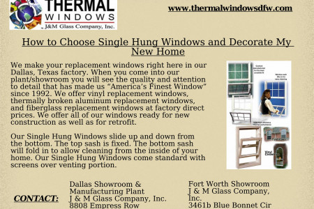 How to Choose Single Hung Windows and Decorate My New Home Infographic