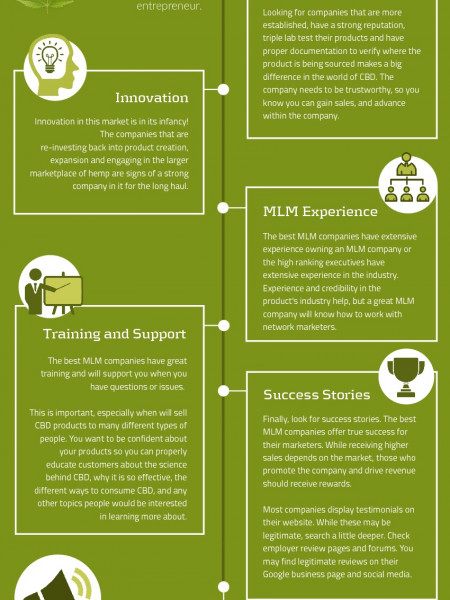 How To Choose The Best CBD Oil MLM Companies To Join [INFOGRAPHIC] Infographic