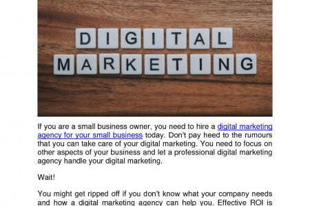 How To Choose The Best Digital  Marketing Agency For Your  Small Business - ATop Digital Infographic