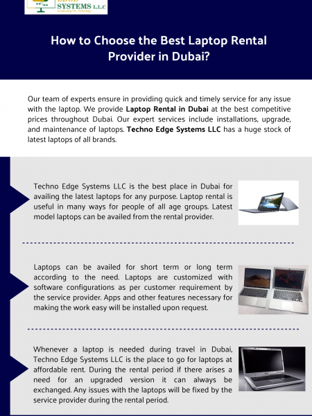 How to Choose the Best Laptop Rental Provider in Dubai? Infographic