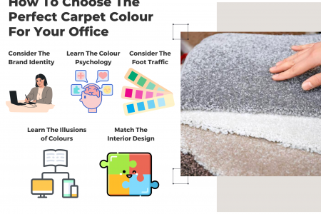 Factors To Consider When Choosing Carpet Color For Your Office Infographic
