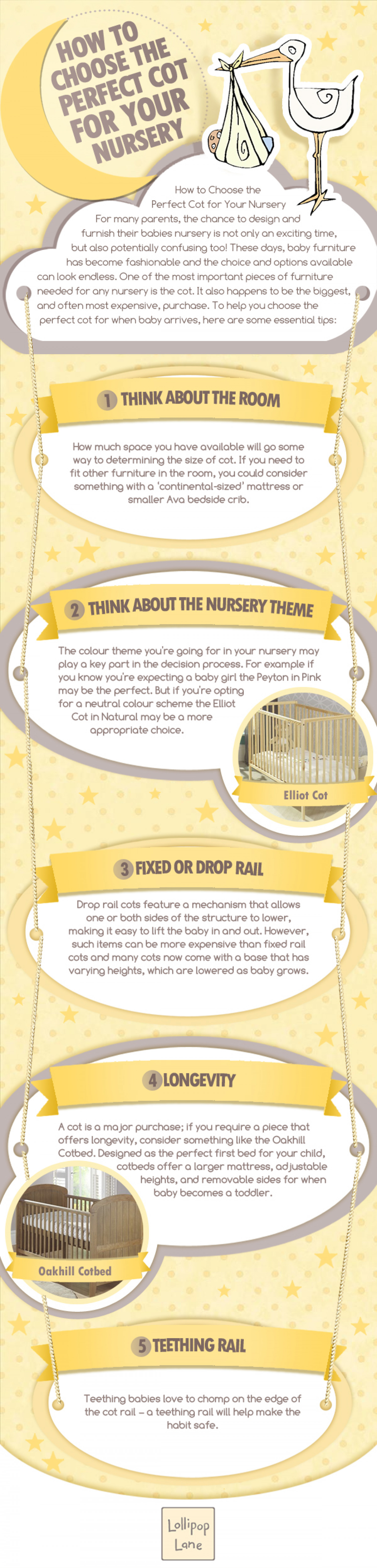 How To Choose The Perfect Cot For Your Nursery Infographic