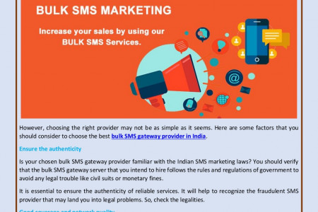 How to Choose the Right Bulk SMS Gateway Provider in India? Infographic