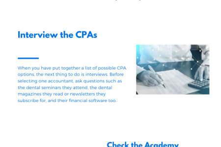 How to Choose the Right Dental CPA in San Diego Infographic