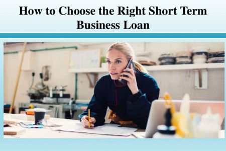 How to Choose the Right Short Term Business Loan Infographic