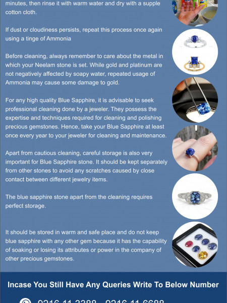 How to Clean Blue sapphire Gemstone Infographic