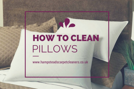 How to clean pillows Infographic