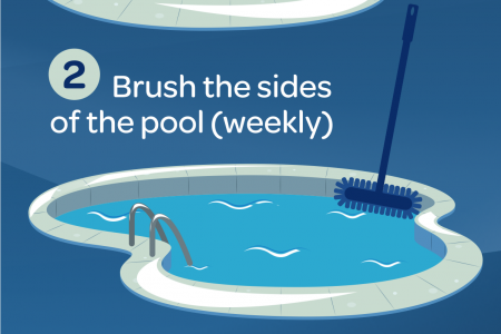 How To Clean Your Pool Infographic