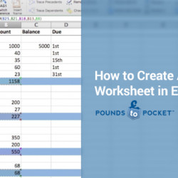 how to make a budget sheet in excel