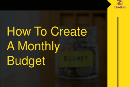 How to Create a Monthly Budget- TakeFin Infographic
