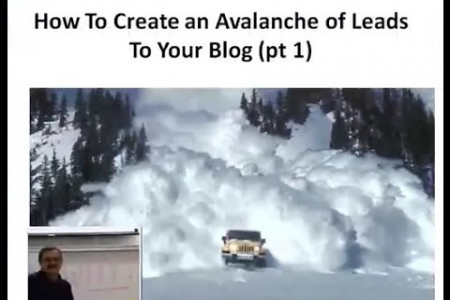 How to create an avalanche of leads with your blog! - 23 New Blogging Secrets!  Infographic