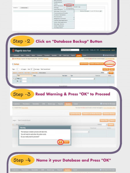 How to Create Backup of Magento Website - M-Connect Media Infographic