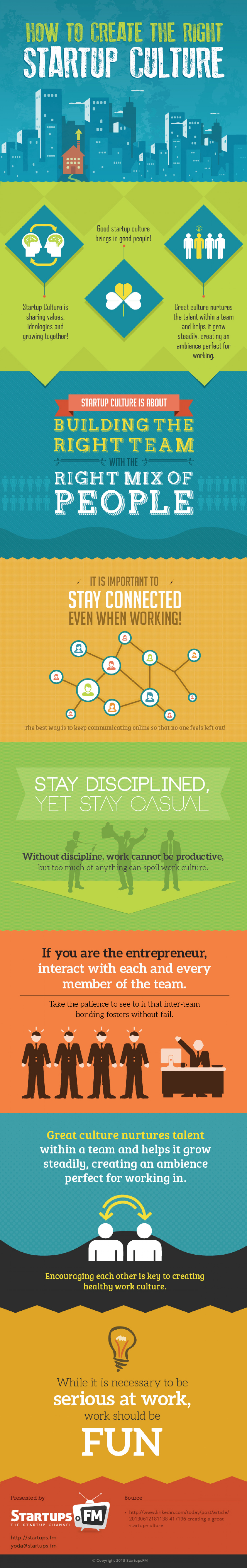 How to create the right startup culture? Infographic