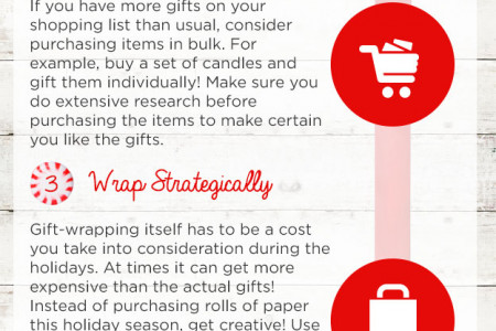 How to Cut Back on Holiday Spending Infographic