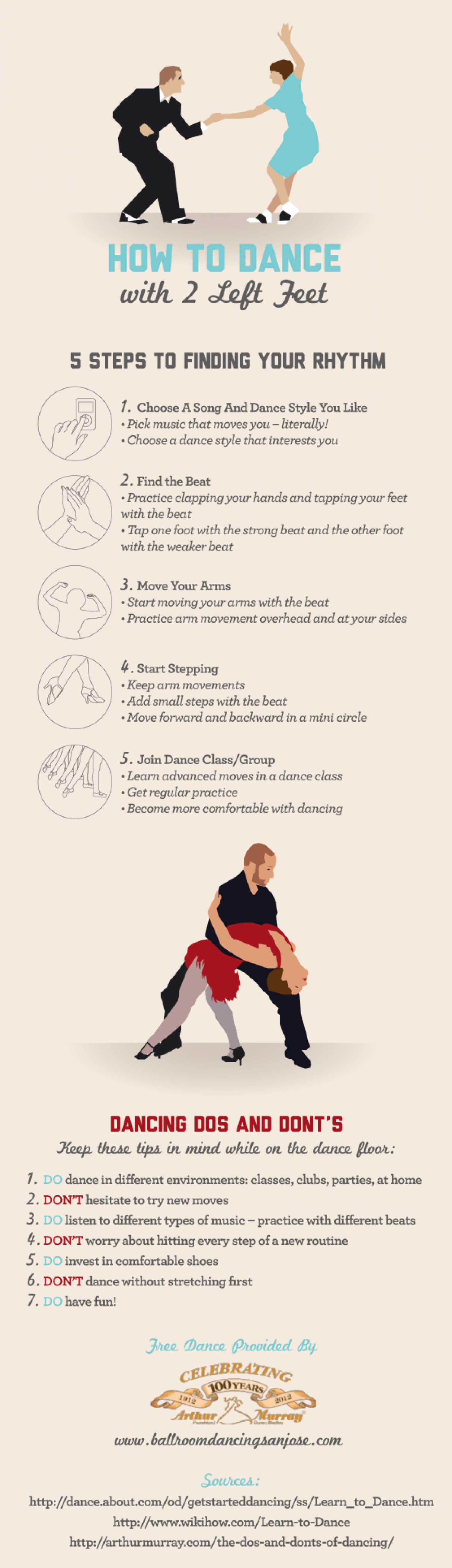 How to Dance with Two Left Feet Infographic