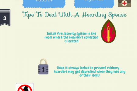 How To Deal With A Hoarding Spouse Infographic