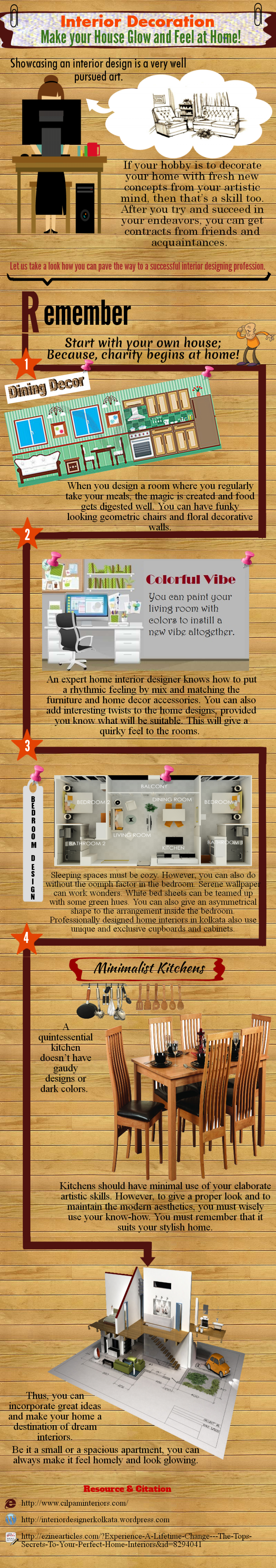 Interior Decorationn Make Your House Glow and Feel At Home Infographic