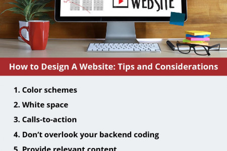 How to Design A Website: Tips and Considerations Infographic