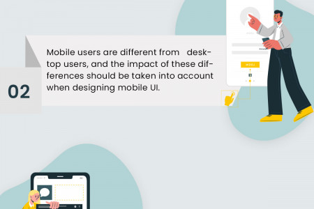 How to design the responsive Mobile UI Infographic