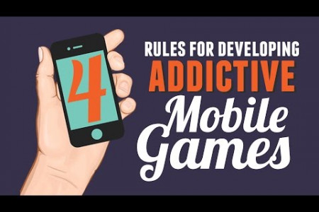 How to Develop Addictive Mobile Games Infographic