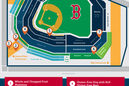 How to Eat Healthy at a Red Sox Game Infographic