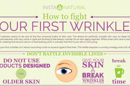 How to Fight Your First Wrinkles Infographic