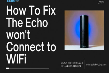 How To Fix The Echo won't Connect to WiFi Infographic