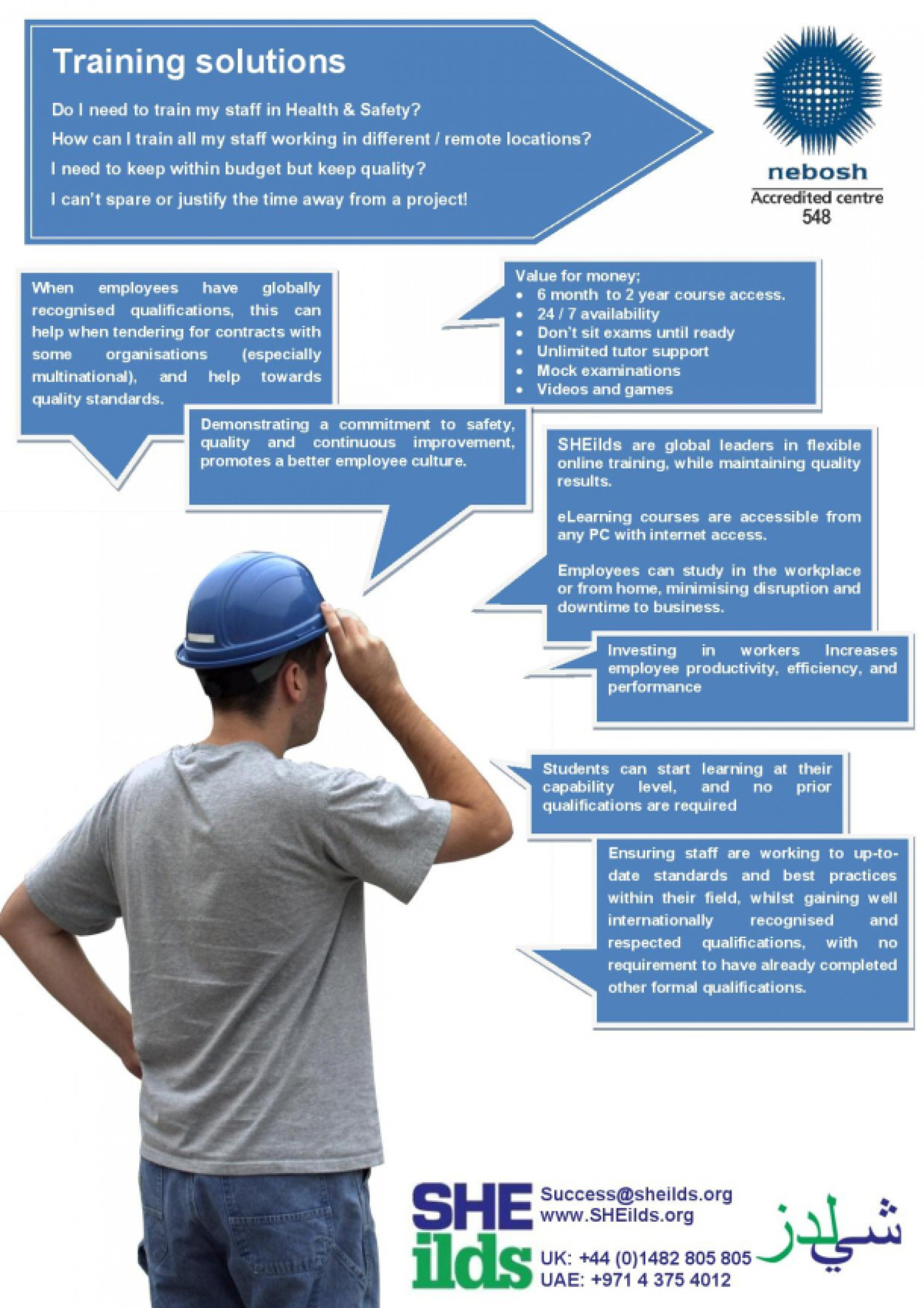 Health and Safety Training Solution Infographic
