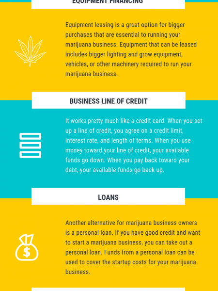 How to get Financing for Your Marijuana Business Infographic