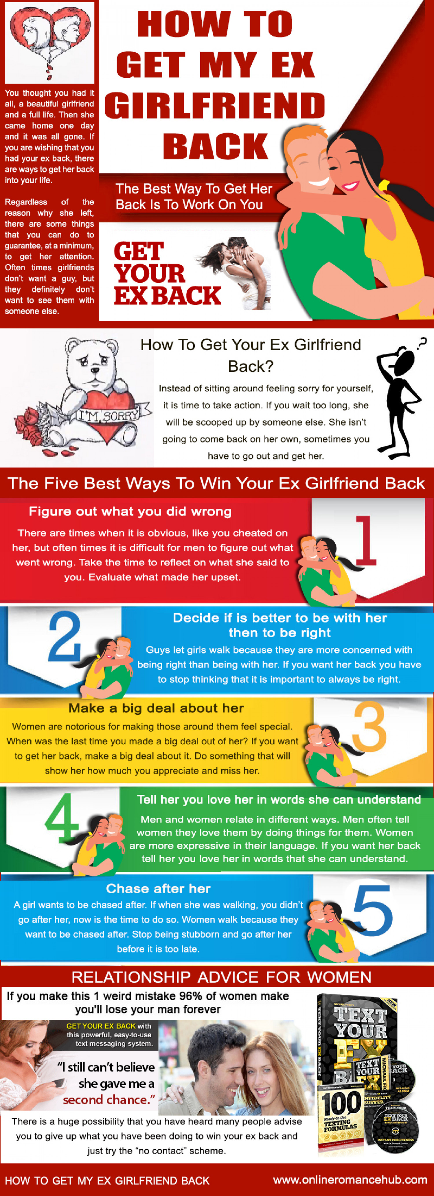 How To Get My Ex Girlfriend Back Infographic