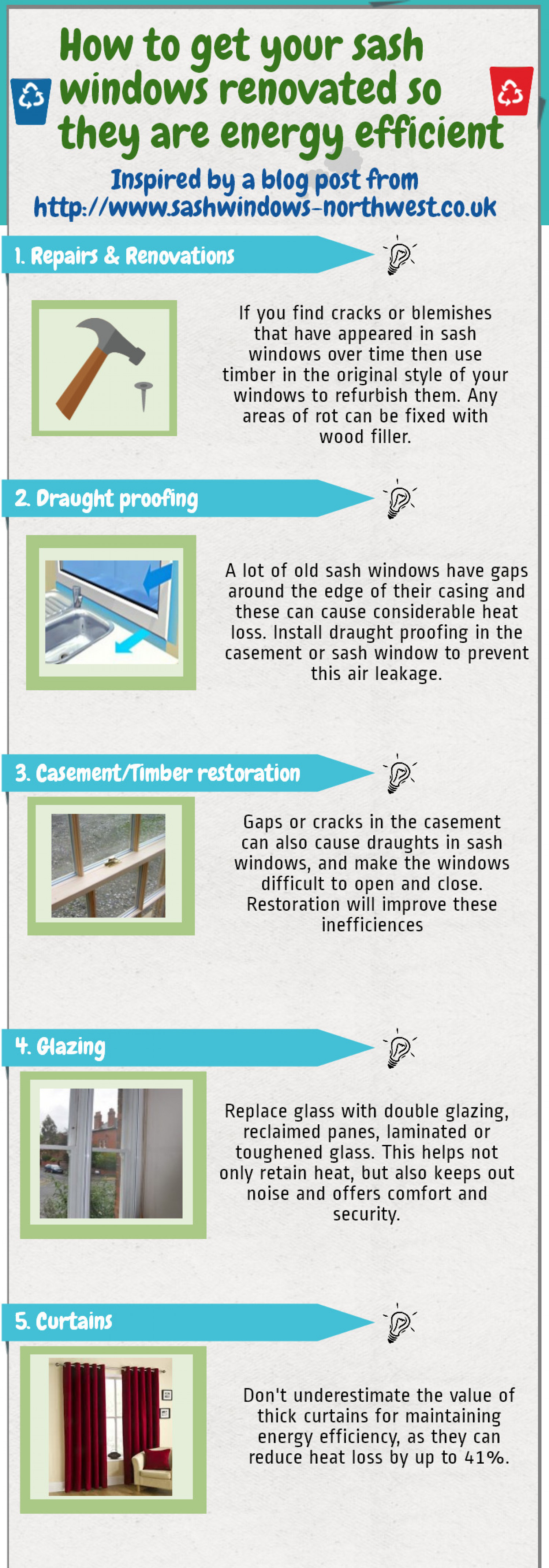 How to get you sash windows renovated so that they are energy efficient Infographic