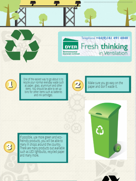 How to go Green at Work Infographic