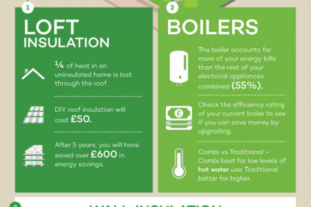 How To Green Your Home Infographic