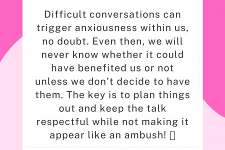 How to Handle Difficult Conversations Infographic