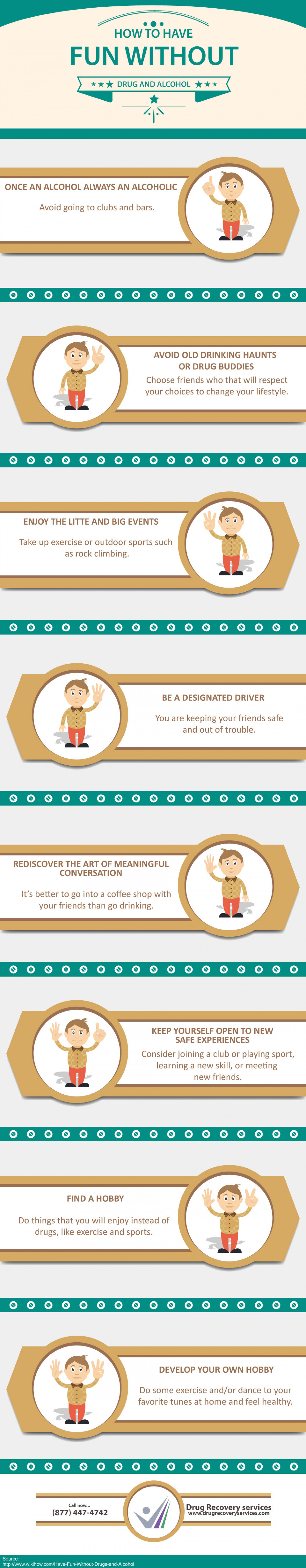 ... Fun without Drugs and Alcohol - Drug Recovery Services Infographic