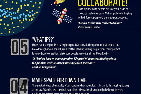 How to Help Your Ideas Blast Off Infographic