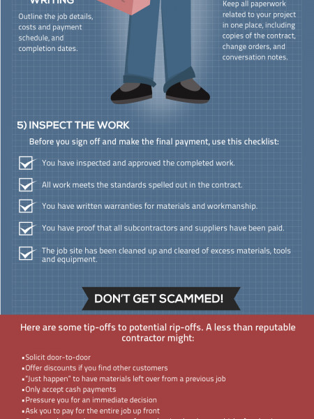 How to hire a contractor Infographic