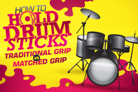 How to Hold Drum Sticks: Traditional Grip vs. Matched Grip Infographic