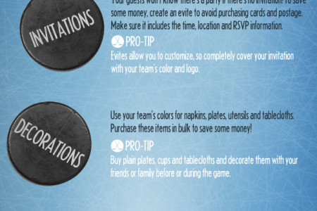 HOW TO HOST A FRUGAL HOCKEY PARTY Infographic