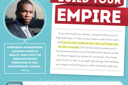 How To Hustle Like 50 Cent: 5 Lessons For The Street-Smart Entrepreneur Infographic